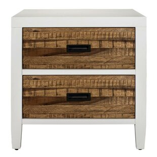 Olivas Wooden 2 Drawer Nightstand