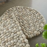 Felted Wool Pebble Gray Round Area Rug