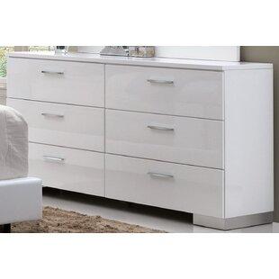 Dias 6 Drawer Double Dresser
