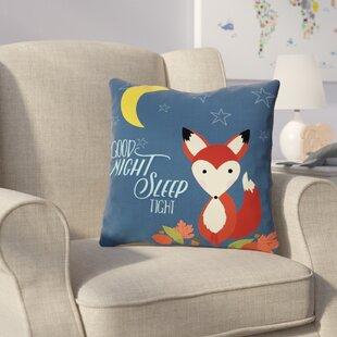 Clairevale Good Night Fox Throw Pillow