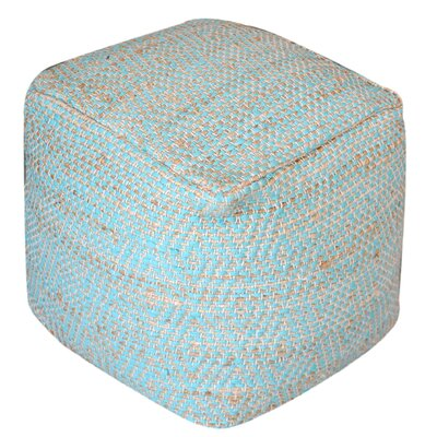 Federalsburg Pouf Upholstery: Aqua by Beachcrest Home