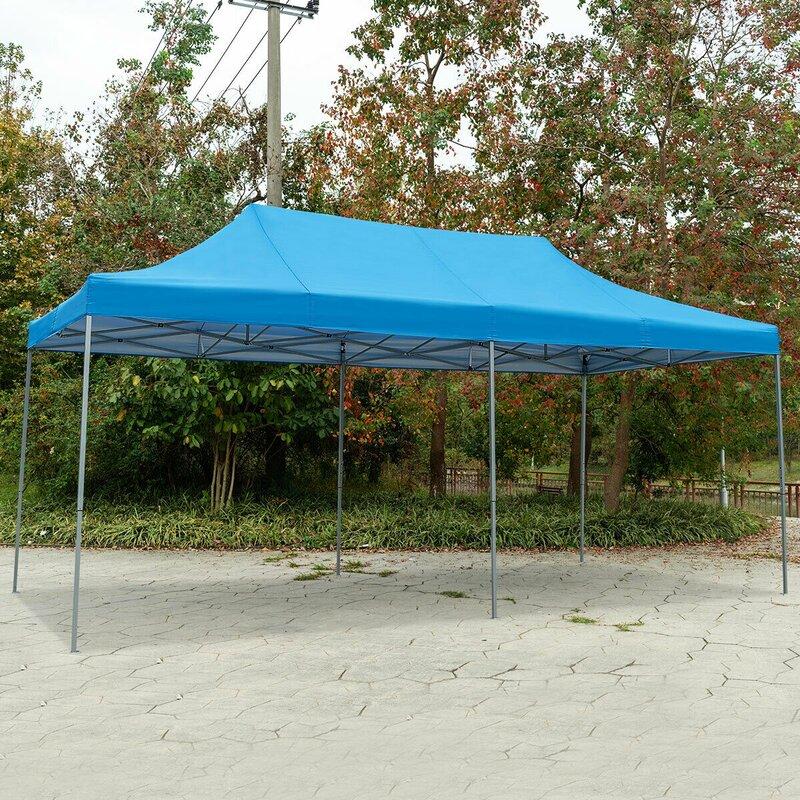 Wanme 20 Ft W X 10 Ft D Steel Party Tent Canopy Wayfair