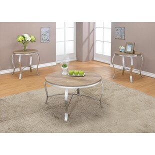 Amidon 3 Piece Coffee Table Set