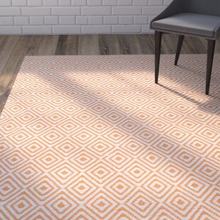 Sessums Hand-Woven Ivory/Rust Area Rug byWrought Studio