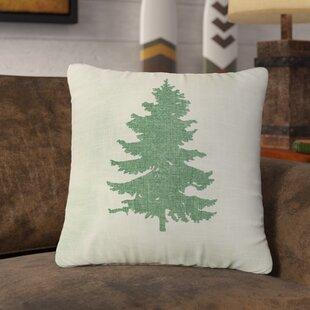 Amabel Pine Tree Linen Throw Pillow