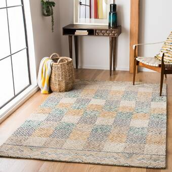 Bloomsbury Market Faught Handloom Cadet Blue Driftwood Brown Area Rug Wayfair