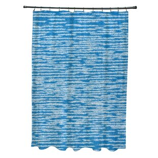 Hancock Marled Knit Geometric Print Single Shower Curtain