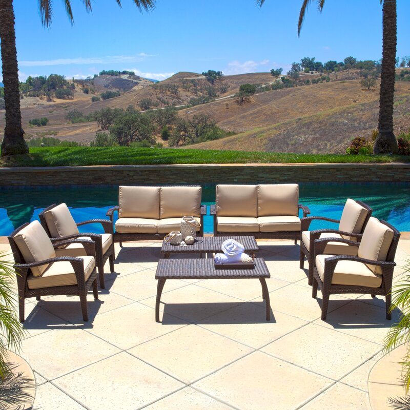 Weathersby 8 Piece Sofa Set with Cushions