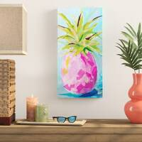Pineapple Wall Decorations - 'Pink Pineapple' Acrylic Painting Print
