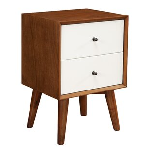 Best Parocela Two-Tone 2 Drawer Nightstand by Langley Street