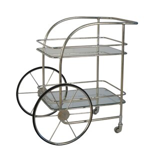 Marcel Metal Bar Cart by 17 Stories