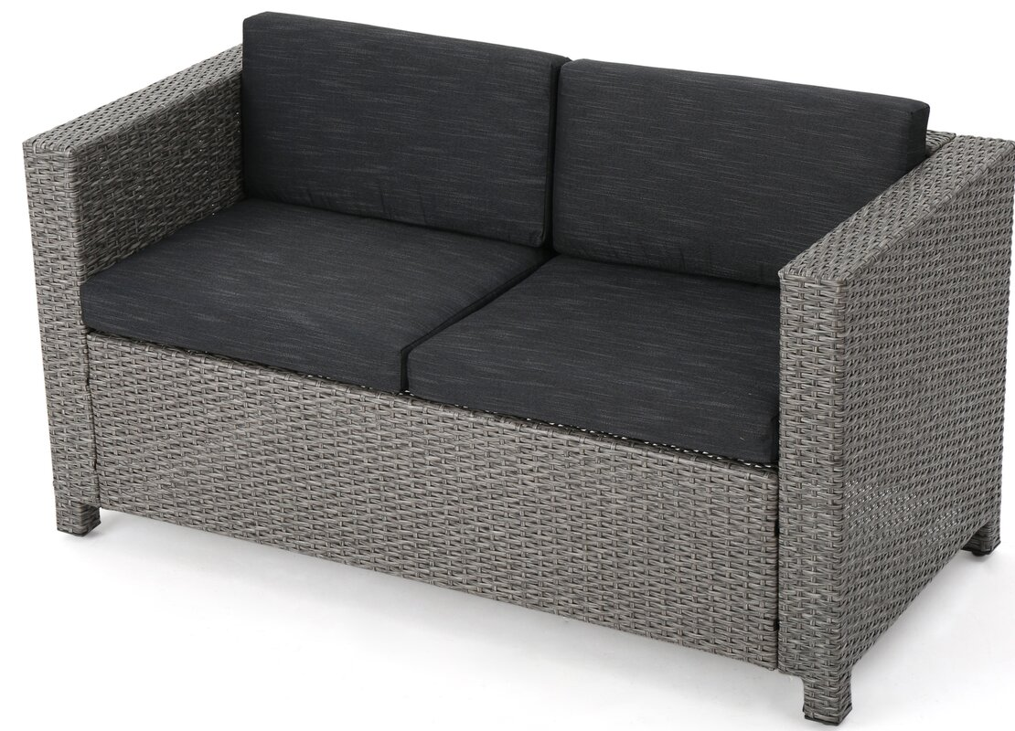 wicker settee piece small indoor couches design elegant rattan ideas scale all furnitu patio loveseat cozy resin outdoor weather style setting couch with furniture