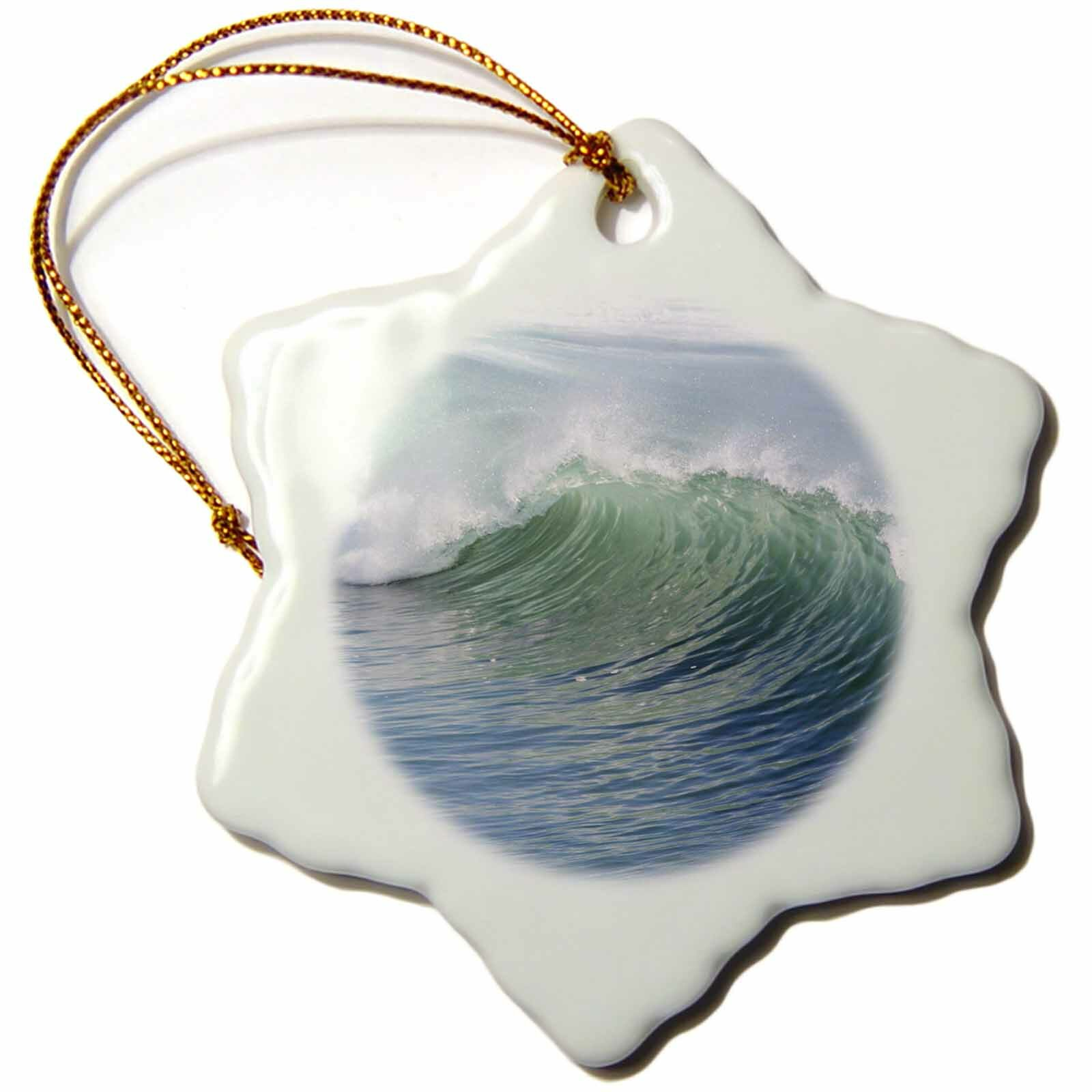 The Holiday Aisle Breaking Waves Holiday Shaped Ornament Wayfair