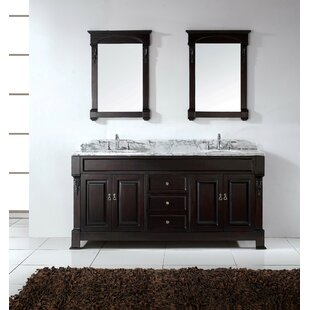 St. Charles 71 Double Bathroom Vanity Set with Mirror by Charlton Home