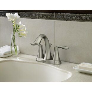 Eva Two Handle Bathroom Faucet with Optional Pop Up Drain Assembly By Moen