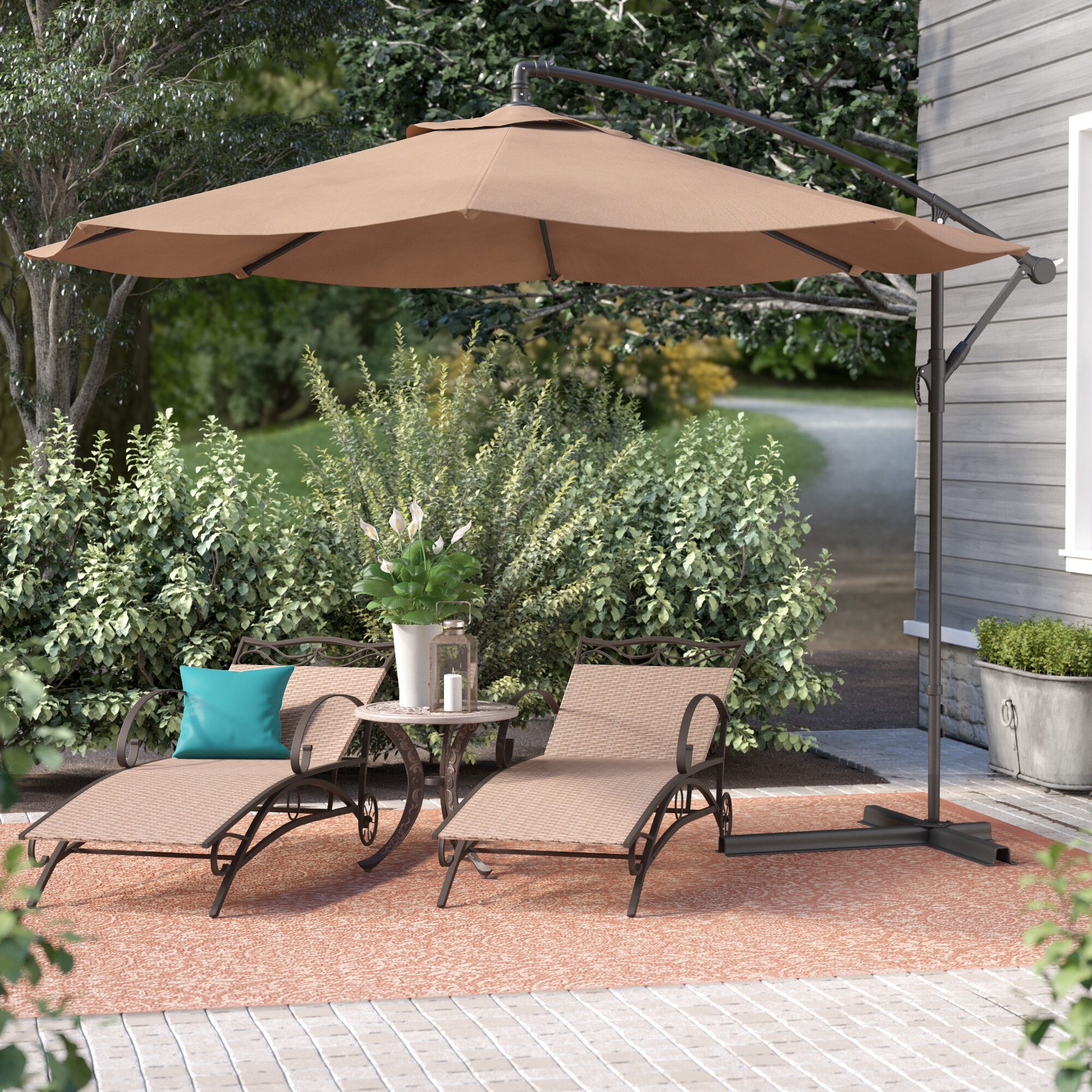 Andover Mills Bormann 10u0027 Cantilever Umbrella U0026 Reviews | Wayfair