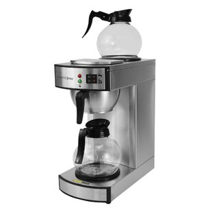 10-Cup Twin Warmer Commercial Coffee Maker