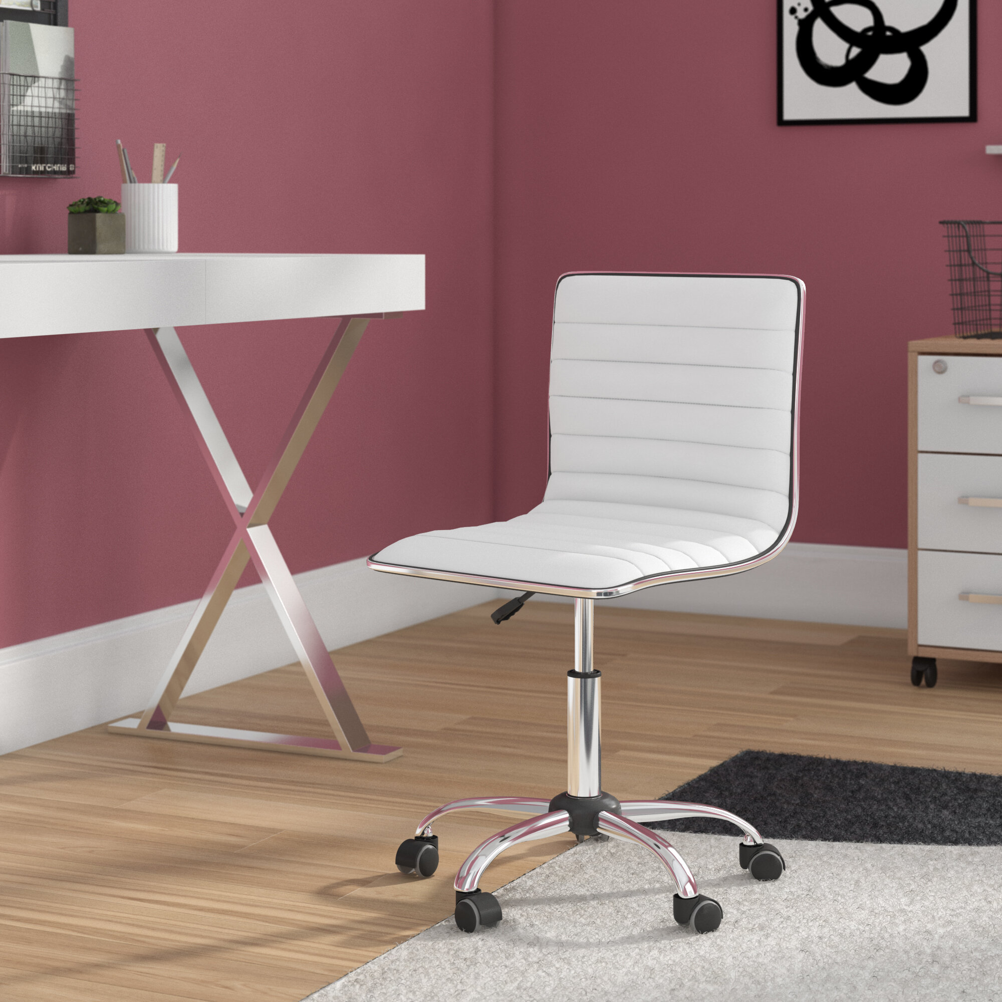 White Office Chairs You Ll Love In 2021 Wayfair