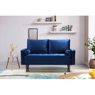 Brookneal 63 Square Arm Loveseat by George Oliver