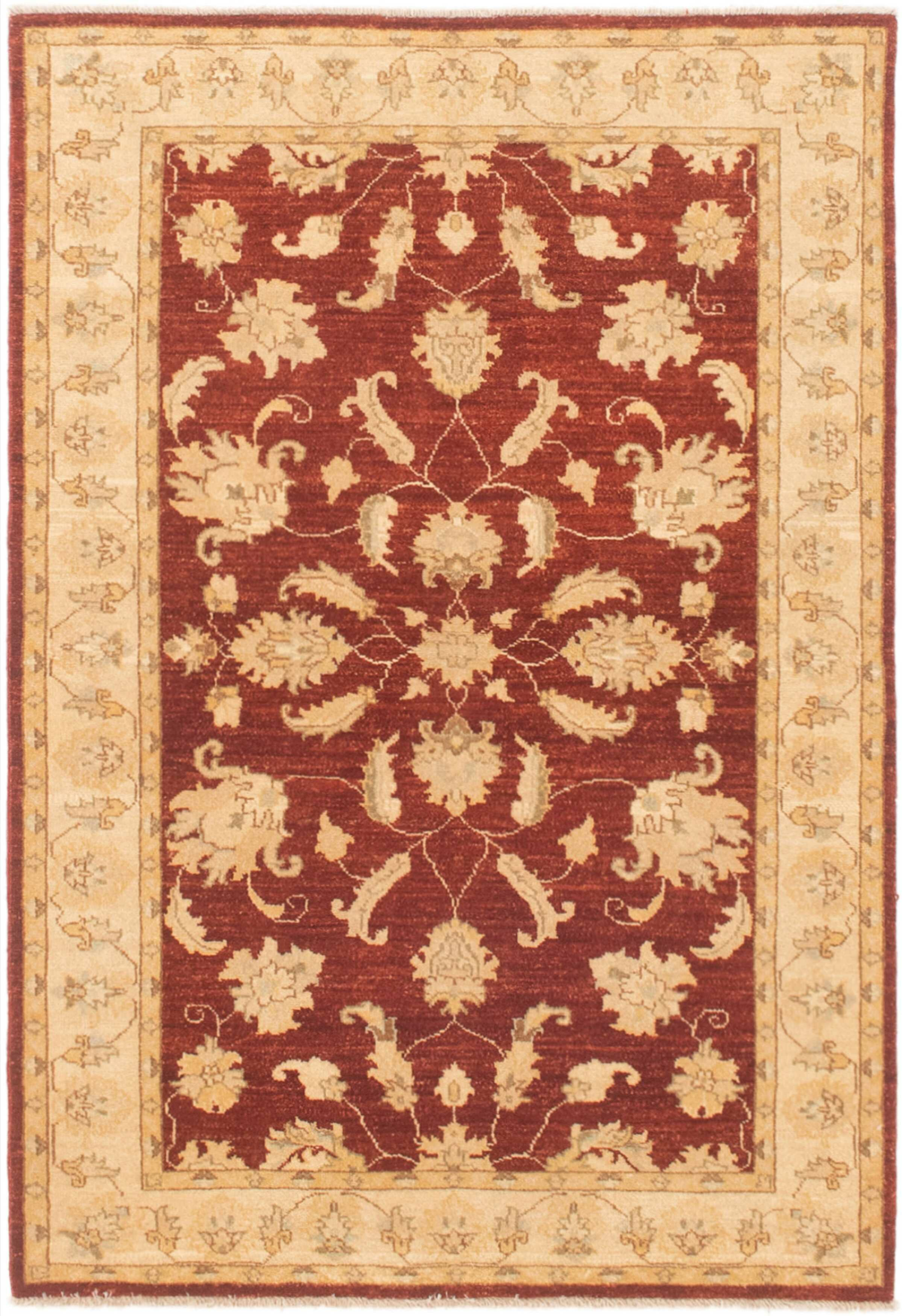 Canora Grey One Of A Kind Resch Hand Knotted 2010s Ushak Red 4 X 5 10 Wool Area Rug Wayfair