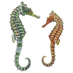 Seahorse Wall Decor nautical metal wall art you'll love | wayfair