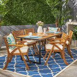 Rickie Teak 7 Piece Dining Set