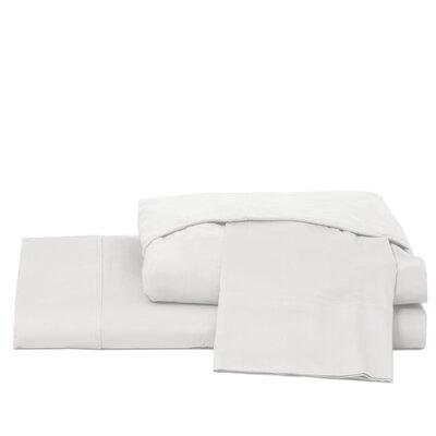 600 Thread Count 100% Cotton Jersey Deep Pocket Sheet Set Ardor Home Color: White