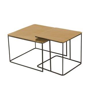 Lonnie 2 Piece Nesting Tables by 17 Stories Comparison