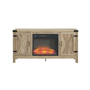 Quance Blonde TV Stand for TVs up to 75 with Fireplace