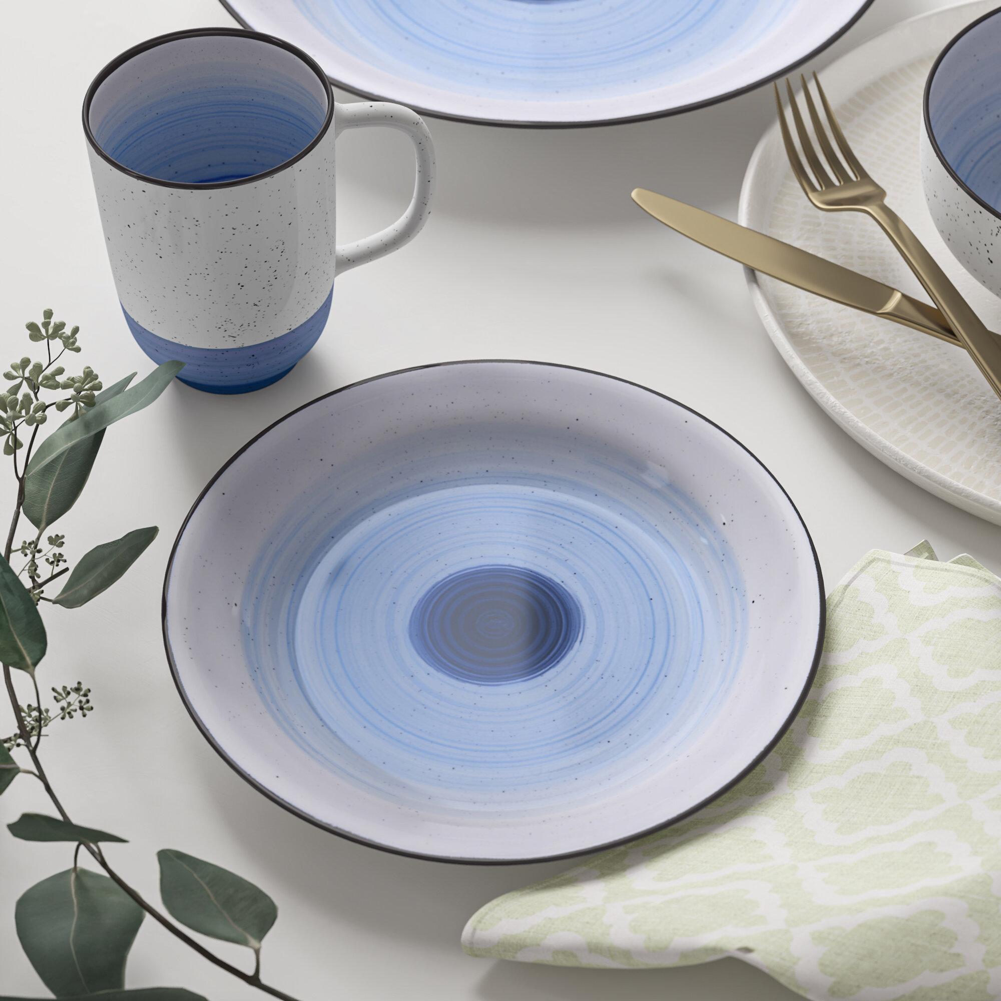 Mason 7 Piece Bone China Dinnerware Set, Service for 7