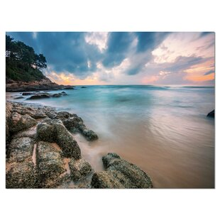 140805e311 Gloomy Tropical Sunset Beach Photographic Print on Wrapped Canvas. by Design  Art