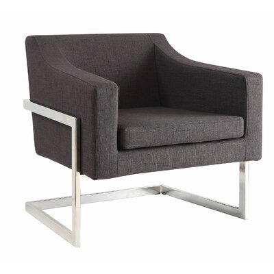 Contemporary Grey And Chrome Accent Chair Decor+