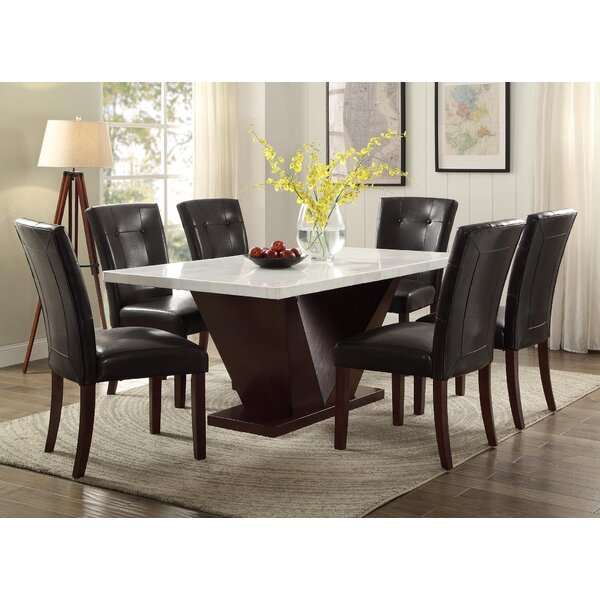 World Menagerie Philbrook Marble Dining Table Wayfair