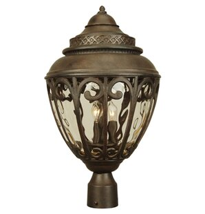 Affordable Price Oakhill Outdoor 3-Light Post Light By Charlton Home