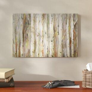 'Birch Path' Wrapped Canvas Print