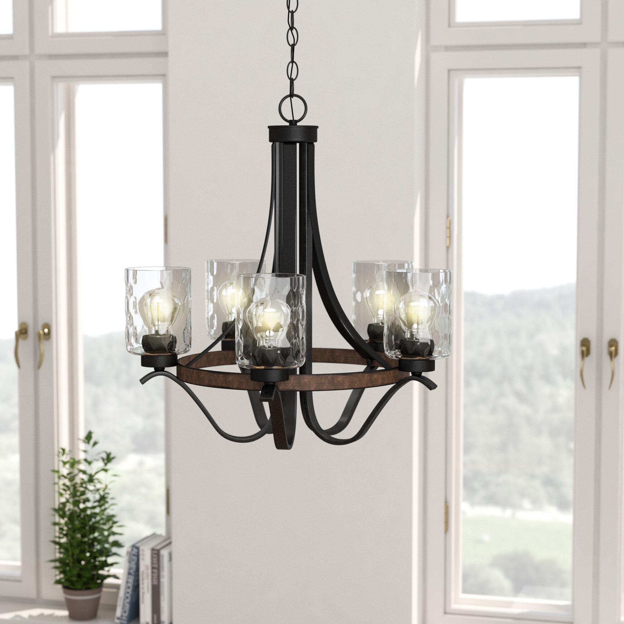 Laurel foundry modern farmhouse sabo indoor 5 light shaded chandelier reviews wayfair
