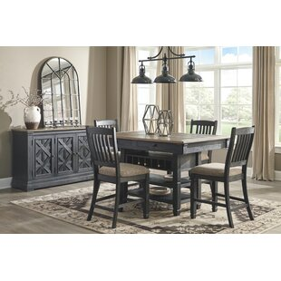 Ventanas 5 Piece Counter Height Solid Wood Dining Set
