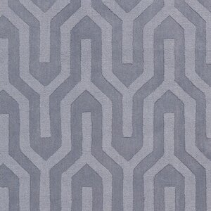 Geron Lavender Hand-Woven Gray Area Rug