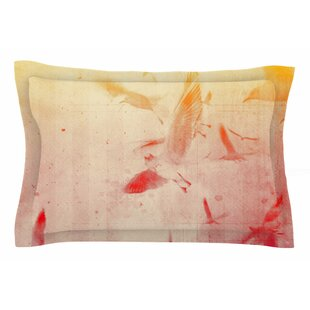 Frederic Levy-Hadida 'Them Birds' Orange Purple Pillow Sham Sham