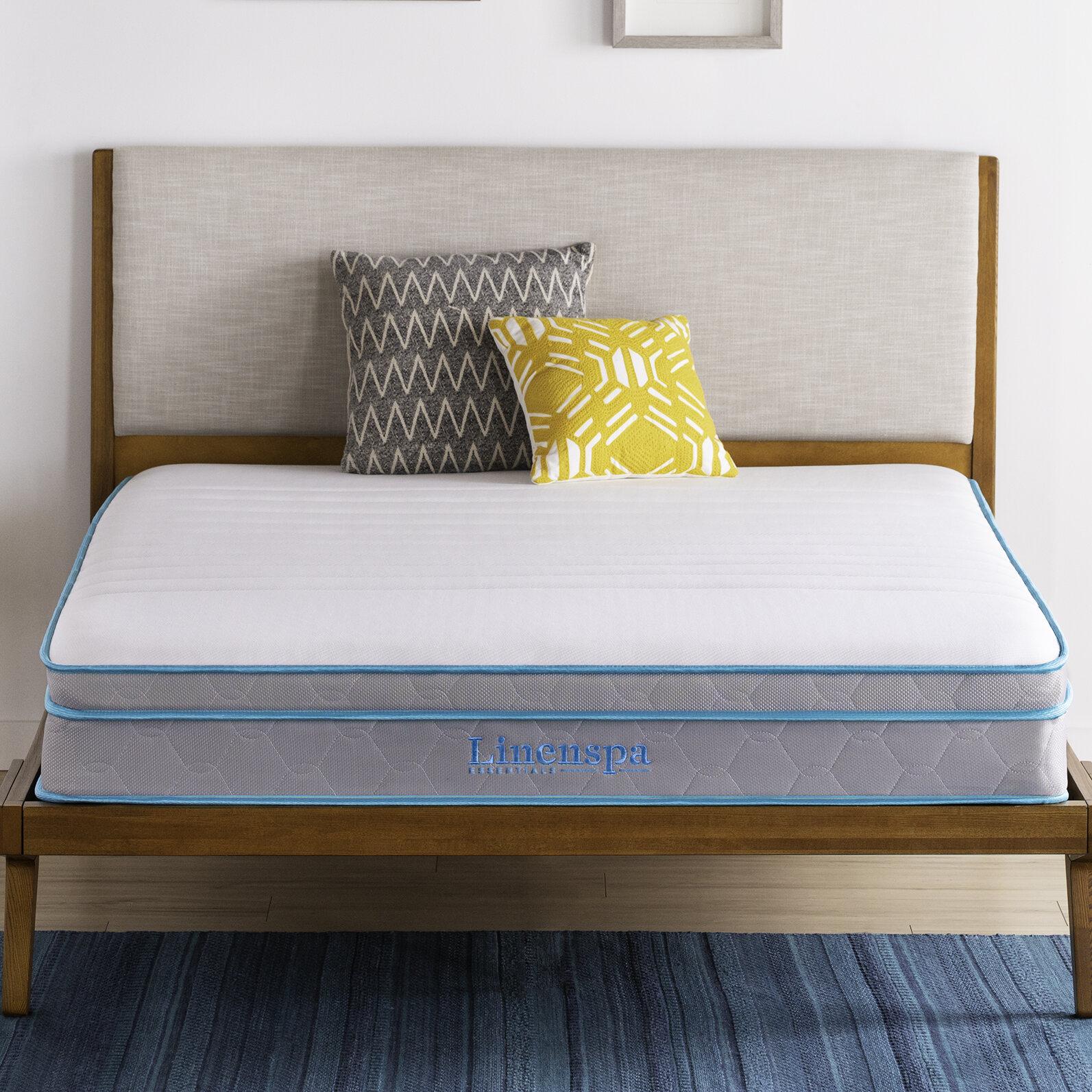 Linenspaessentials Always Cool 10 Medium Hybrid Mattress Reviews Wayfair