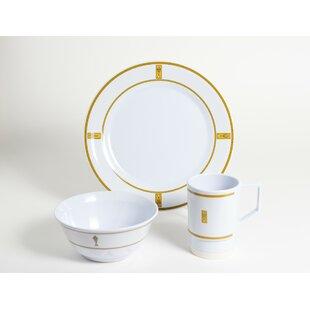 Decorated Melamine Fish 18 Piece Dinnerware Set Service for 6  sc 1 st  Wayfair & Fish Dinnerware   Wayfair
