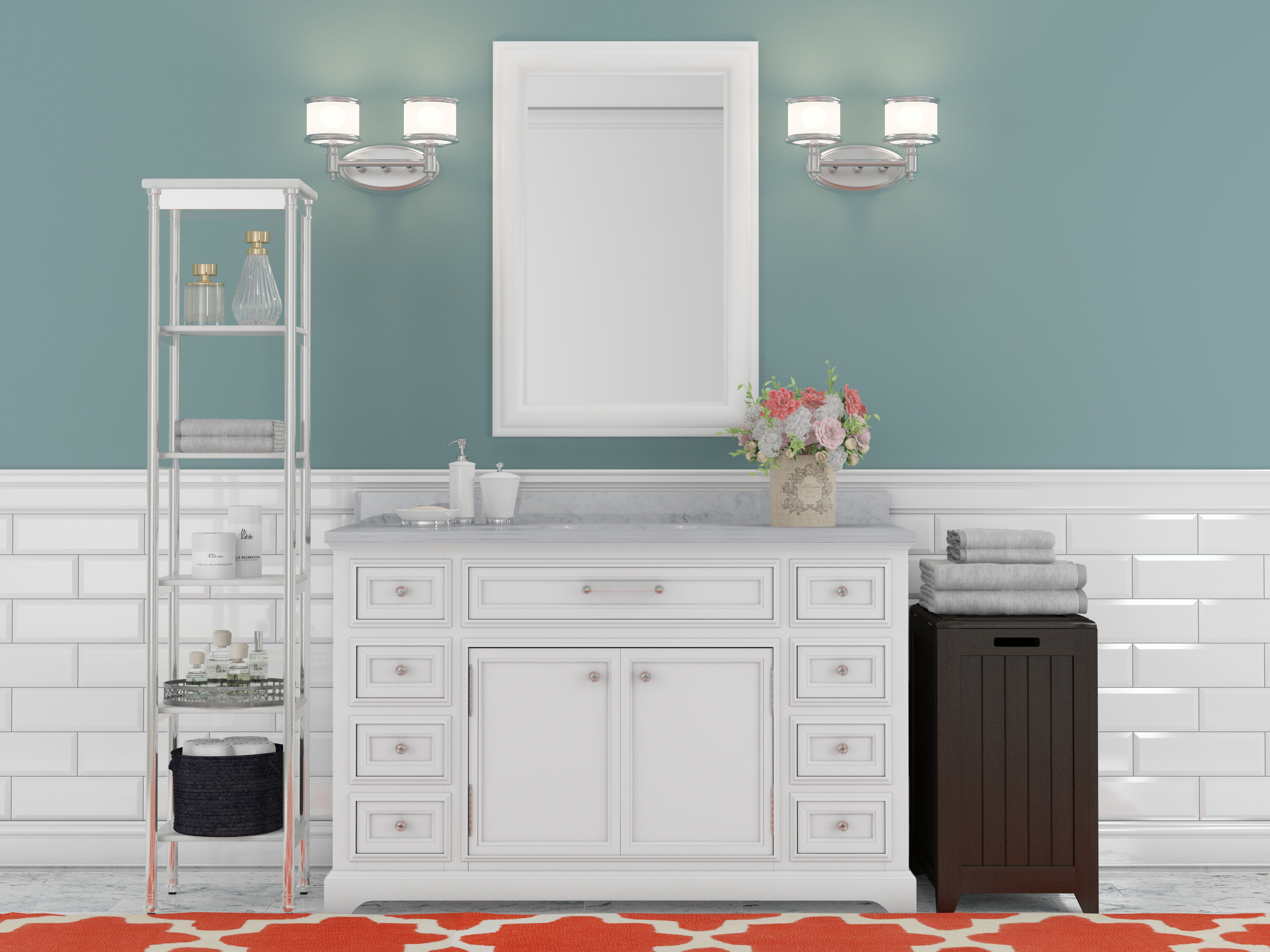 Three Posts Bergin 48 Single Sink Bathroom Vanity Set Reviews Wayfair