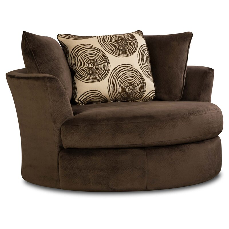 swivel chair living room. Rayna Swivel Barrel Chair Chairs You ll Love  Wayfair