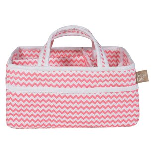 Card Chevron Storage Caddy Basket By Zoomie Kids