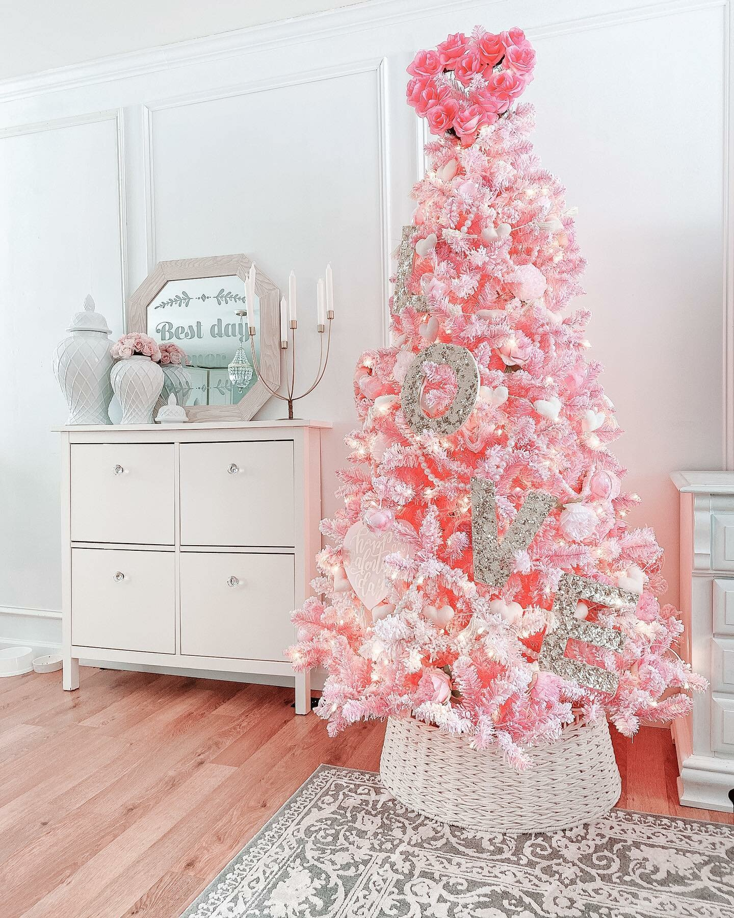 The Holiday Aisle Pink Artificial Christmas Tree With 500 White Lights Reviews Wayfair