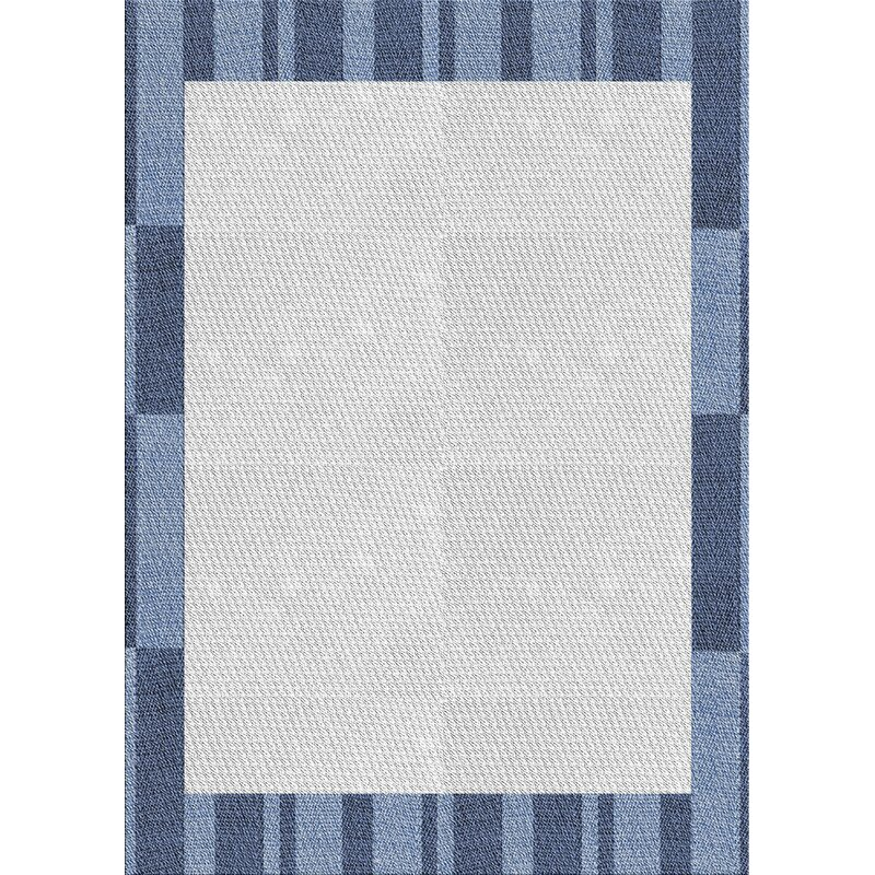 East Urban Home Patterned Light Gray Blue Area Rug