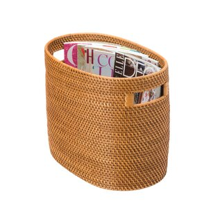 Throncliffe Rattan Magazine Rack and Newspaper Basket