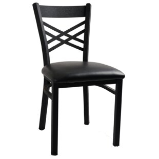 Cross Back Upholstered Dining Chair (Set of 2)
