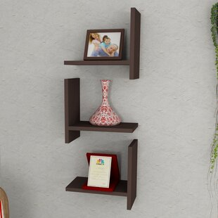 Floating Wood Accent Shelf Set (Set of 3) by Latitude Run