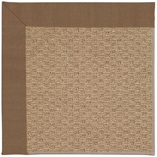 Lisle Machine Tufted Cafe/Brown Indoor/Outdoor Area Rug